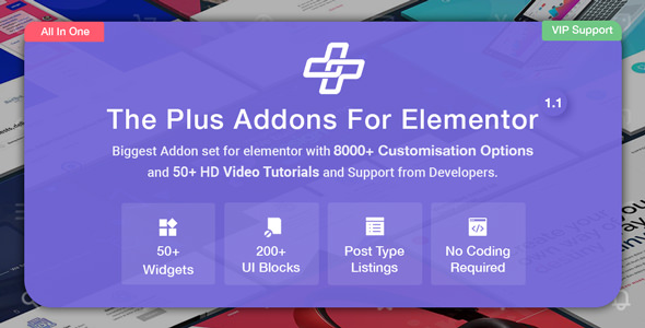 The Plus v1.1.0 – Addon for Elementor