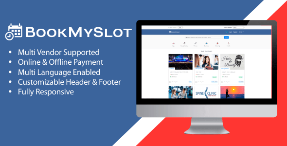 BookMySlot v1.1.0 - Multi Vendor Appointment Booking PHP Software