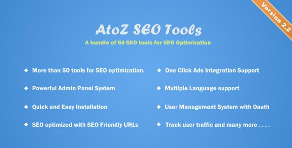AtoZ SEO Tools v2.2 – Search Engine Optimization Tools