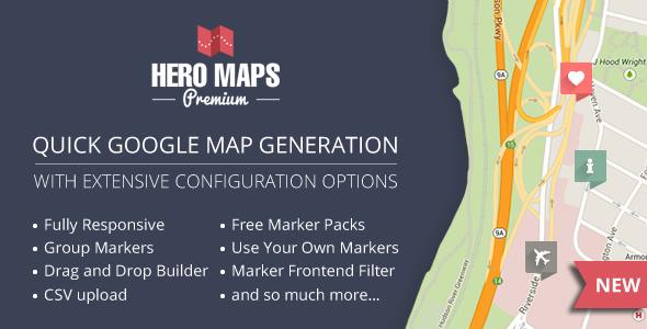 Hero Maps Premium v2.1.6 - Responsive Google Maps Plugin