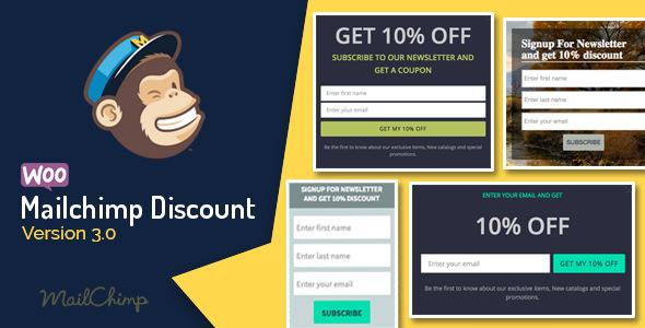 Woocommerce Mailchimp Discount v3.3