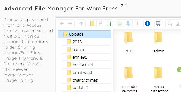 File Manager Plugin For WordPress v7.5.0