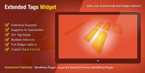 Extended Tags Widget v1.2.6 - WordPress Premium Plugin