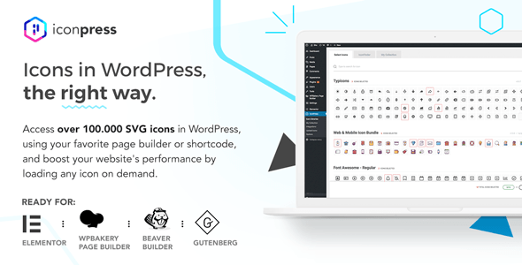 IconPress Pro v1.4.5 - Icon Management for WordPress