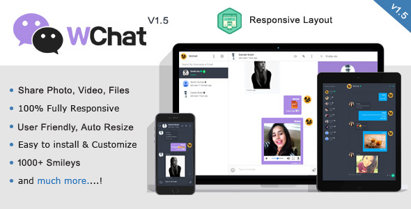 Wchat v1.6 - Fully Responsive PHP AJAX Chat Script - nulled