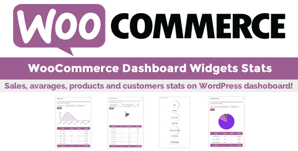 WooCommerce Dashboard Widgets Stats v5.4