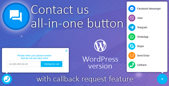 Contact us all-in-one button with callback v1.6.6