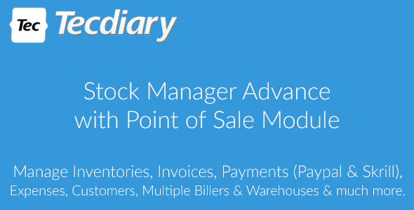 Stock Manager Advance with Point of Sale Module v3.4.11 - nulled