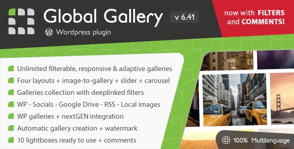 Global Gallery v6.41- WordPress Responsive Gallery