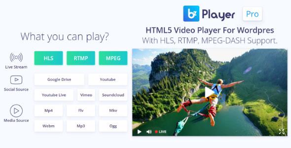 bzplayer Pro v2.1 - Live Streaming Player Plugin