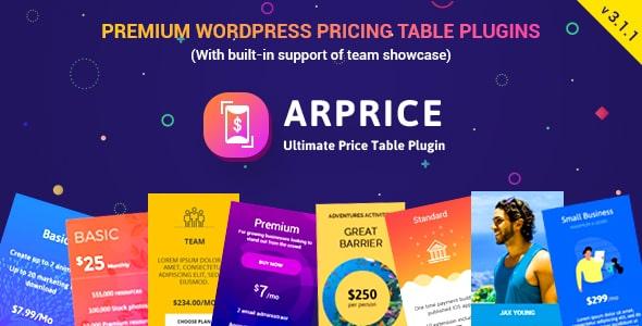 ARPrice v3.6 - Ultimate Compare Pricing table plugin