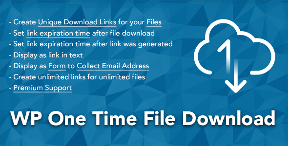 WP One Time File Download v2.0