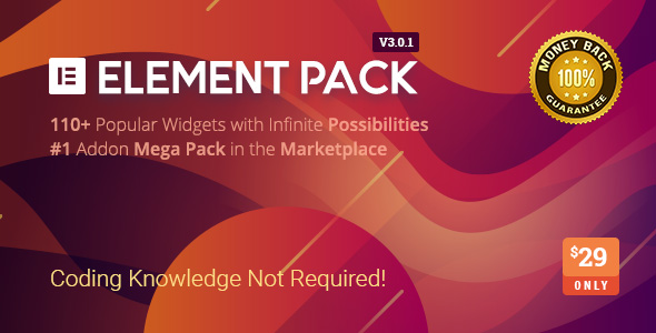 Element Pack v3.0.1- Addon for Elementor Page Builder