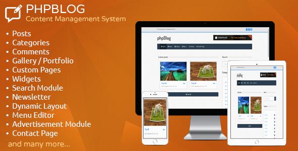 phpBlog v1.2 – Content Management System