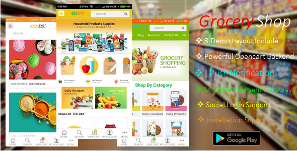 Android Ecommerce – GroceryShop App