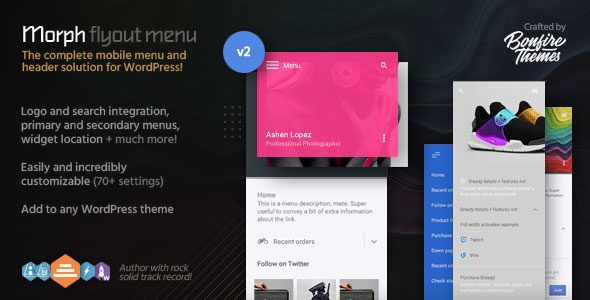 Morph v2.3 – Flyout Mobile Menu for WordPress