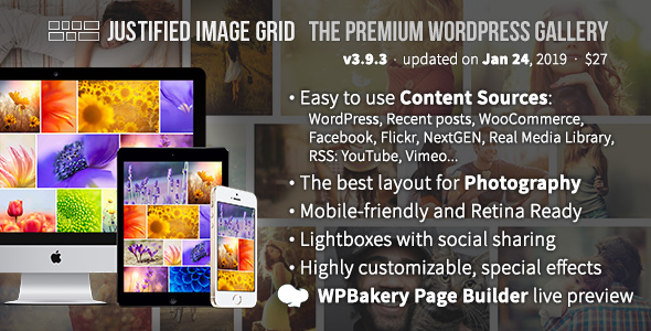 Justified Image Grid v4.1 - Premium WordPress Gallery
