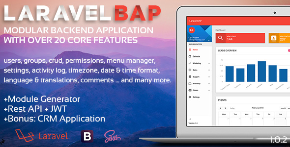 Laravel BAP v1.0.3 – Modular Application Platform and CRM