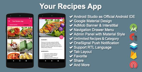 Your Recipes App v2.5.0