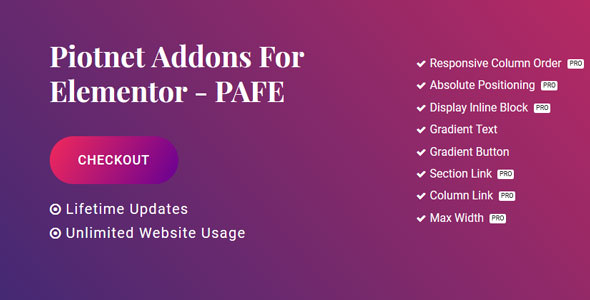 Piotnet Addons Pro For Elementor v3.1.3