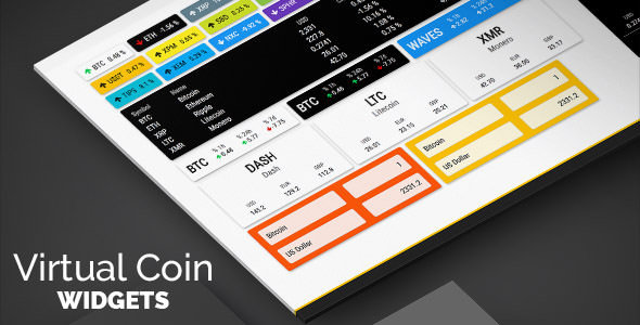 Virtual Coin Widgets v2.2 - Cryptocurrencies Shortcodes Builder