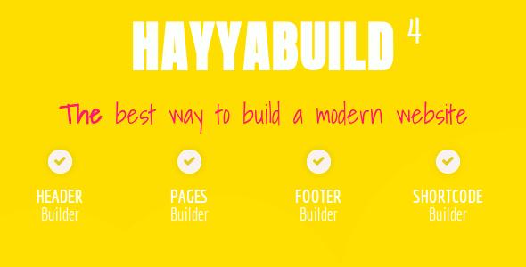 HayyaBuild v4.0 – WordPress Builder