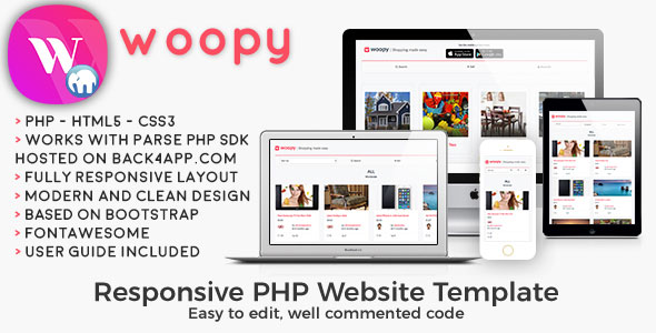 woopy - PHP Listings + Chat Web Template
