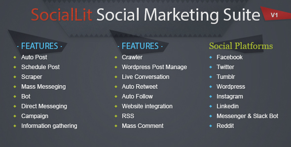 SocialLit v1.0 – Social Marketing Suite
