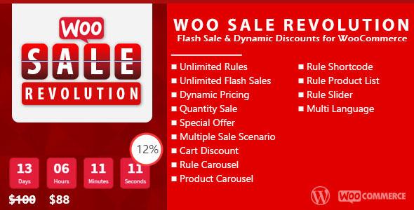 Woo Sale Revolution v3.0.1 - Flash Sale+Dynamic Discounts