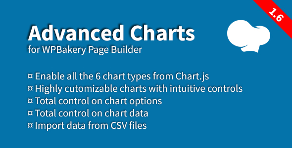 Advanced Charts Add-on for WPBakery Page Builder v1.6