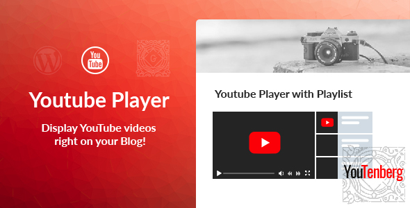Youtenberg v1.0 – Gutenberg YouTube Player with Playlist