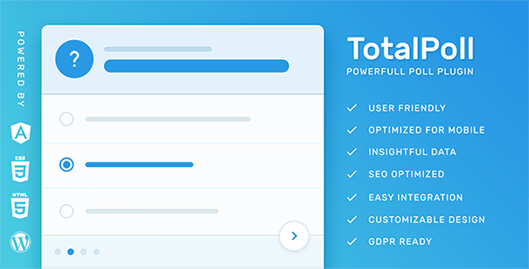 TotalPoll Pro v4.0 – WordPress Poll Plugin
