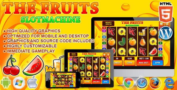 Slot Machine The Fruits – HTML5 Casino Game