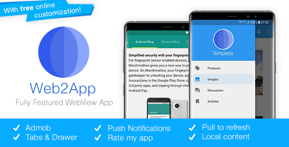 Web2App v3.4 – Quickest Feature-Rich Android Webview