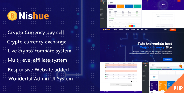 Nishue v2.0 – CryptoCurrency Buy Sell Exchange and Lending with MLM System | Live Crypto Compare