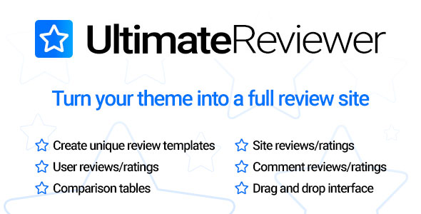 Ultimate Reviewer WordPress Plugin v1.3.1