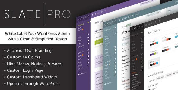 Slate Pro v1.1.5 – A White Label WordPress Admin Theme