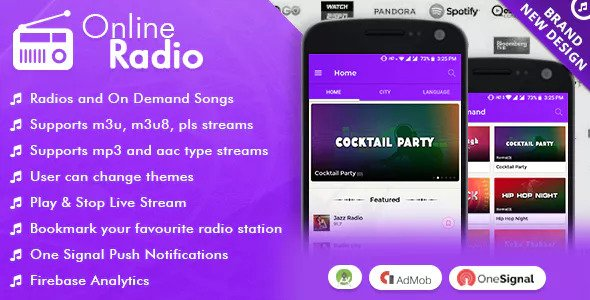 Online Radio With Material Design