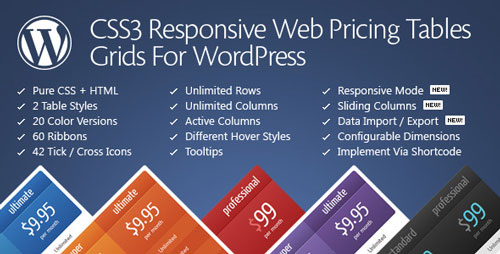 CSS3 Responsive Web Pricing Tables Grids v11.0