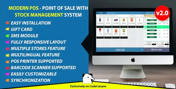 Modern POS v2.0 – Point of Sale with Stock Management System