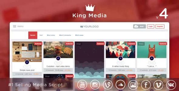 King Media v4.1 – Viral Video, News, Image Upload and Share – nulled