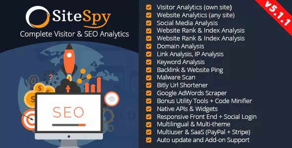 SiteSpy v5.1.1 – The Most Complete Visitor Analytics & SEO Tools – nulled