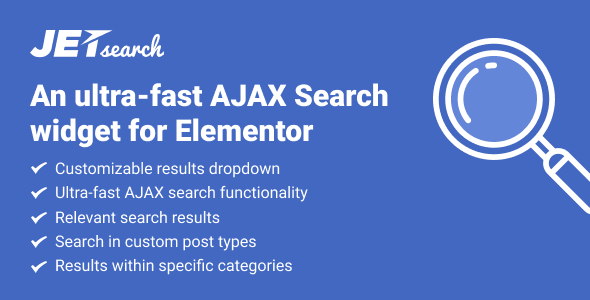 JetSearch v1.1.0 - AJAX Search widget for Elementor