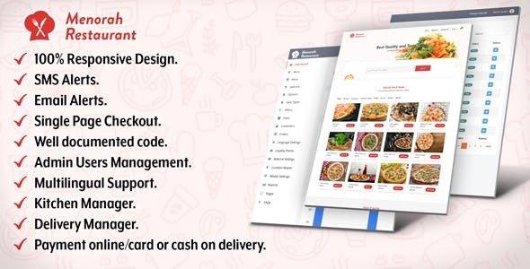 Menorah Restaurant v1.0.1 - Restaurant Food Ordering System