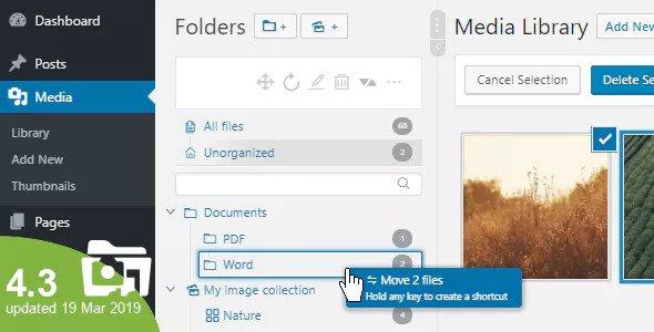 WP Real Media Library v4.3.0 – Media Categories / Folders