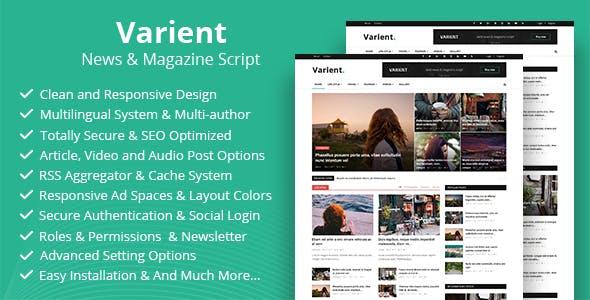 Varient v1.5.5 – News & Magazine Script – nulled