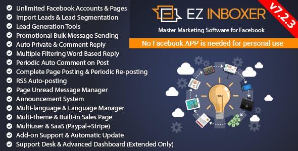 EZ Inboxer v7.2.3 – Master Marketing Software for Facebook – nulled