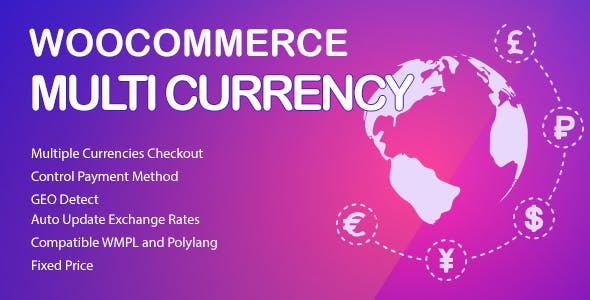 WooCommerce Multi Currency v2.1.6.3 - Currency Switcher