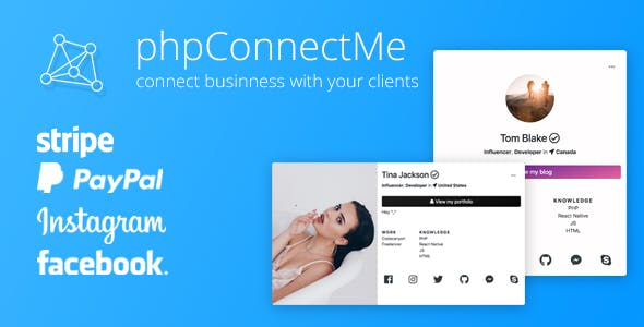 phpConnectMe – Instagram Custom Social Profile