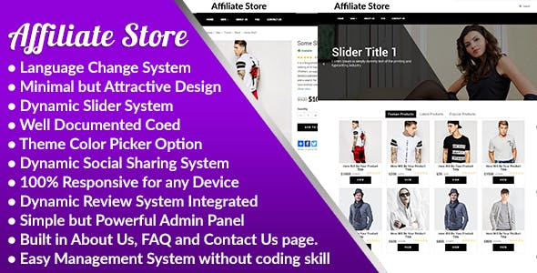 Affiliate Store v1.0 – Responsive Affiliate Store Management System – nulled